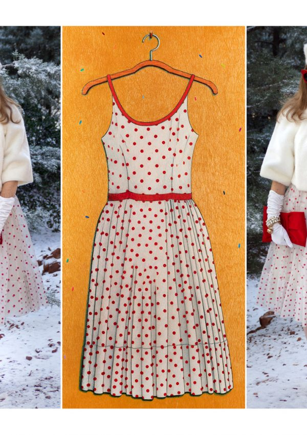 Drawing In Style: A Vintage 1950's Polka Dot Party Dress