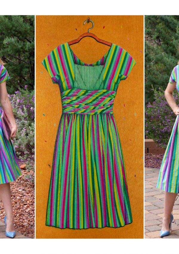 Fashionably Drawn: A Vintage 1950's Jonathan Logan Dress