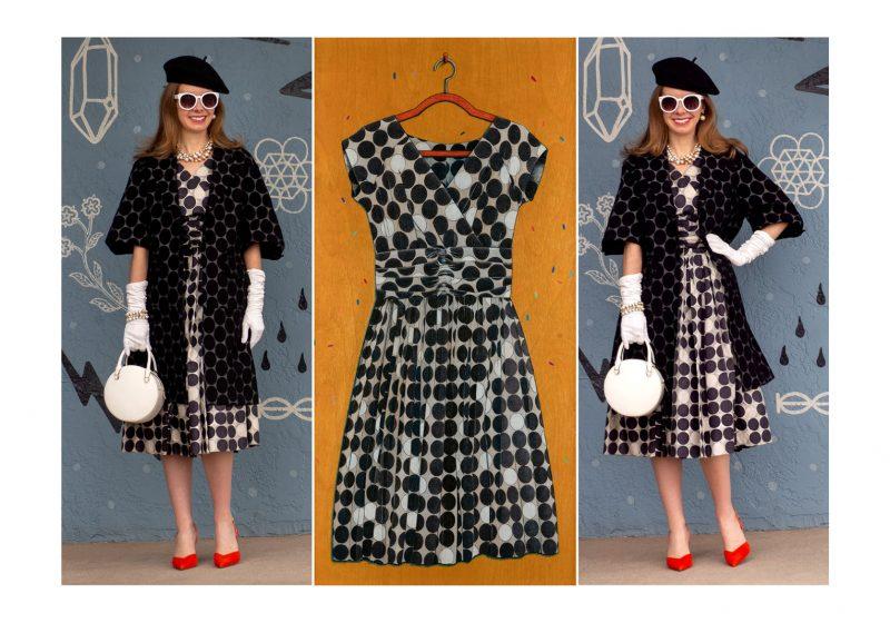Colored Pencil Couture: A Vintage 1950's Original Lucinda California Dress