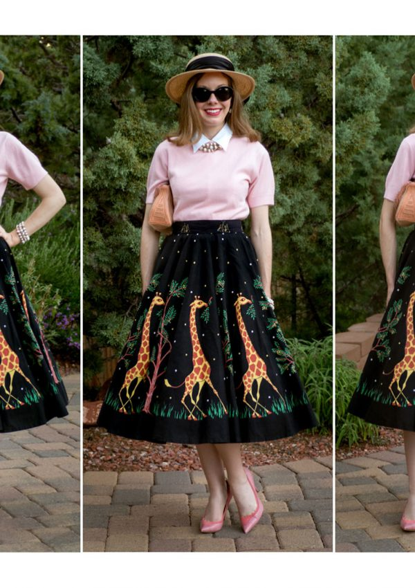 Back to the Fifties Part II: On a Stylish Safari | My Vintage 1950's Giraffe Novelty Print Skirt