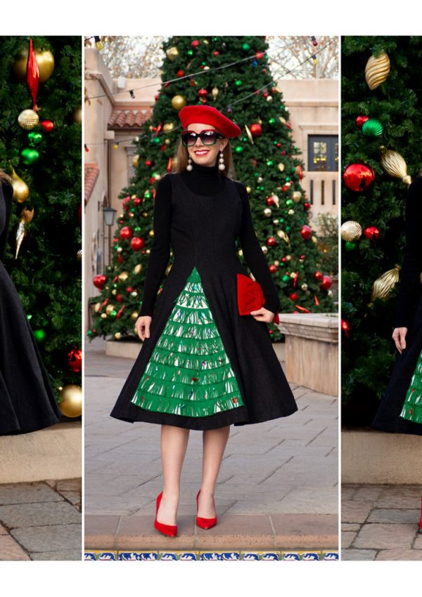 Frockin' Around the Christmas Tree | My Vintage 1950's Novelty Felt Appliquéd Christmas Tree Dress