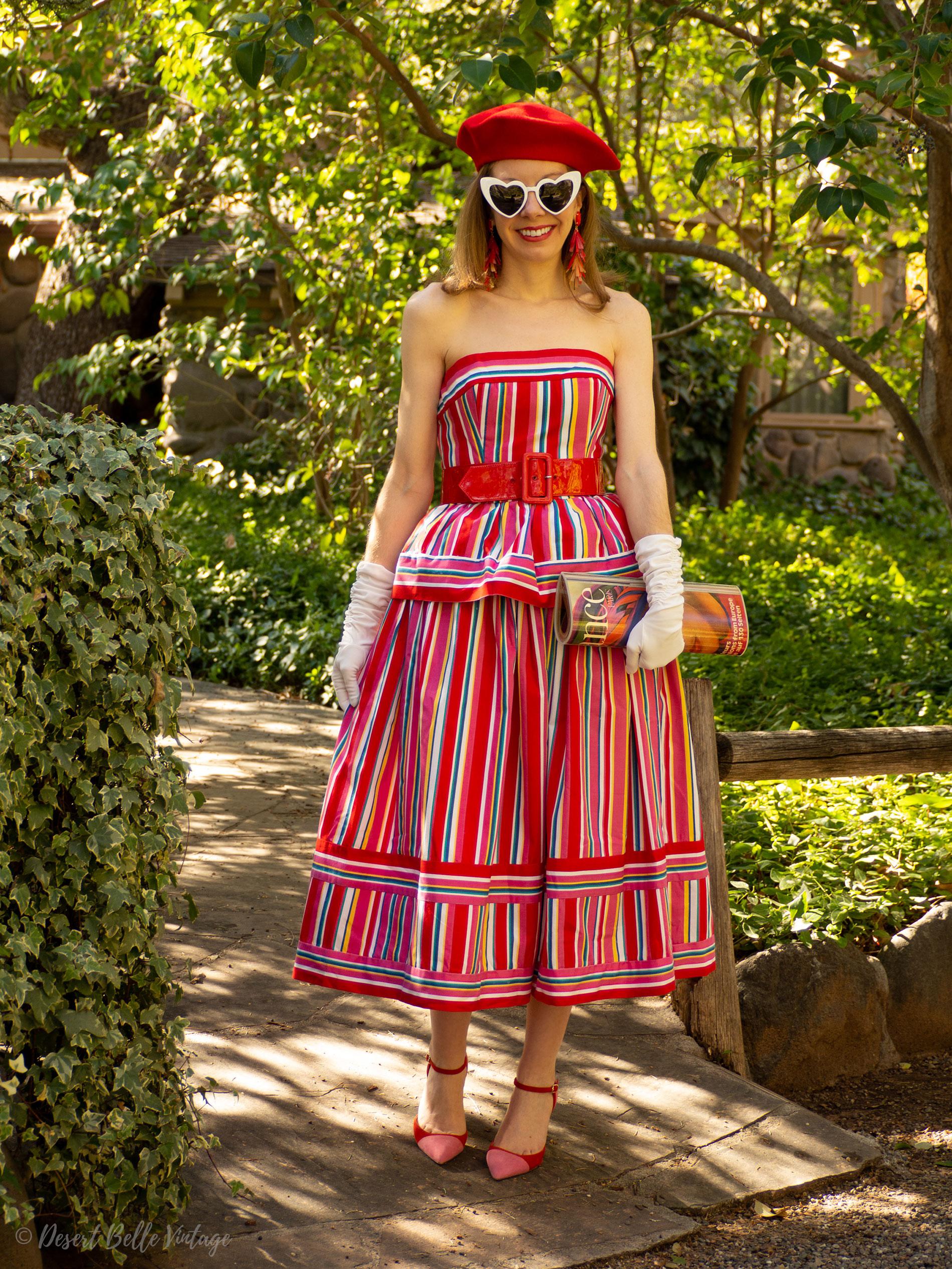 Vintage 1980's Victor Costa Dress